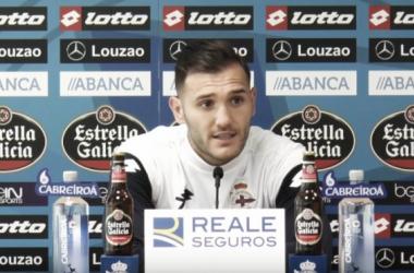 "Lucas Pérez: ""El Barça siempre es peligroso"""