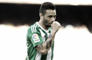 Rubén celebrando uno de sus goles / Foto: Real Betis