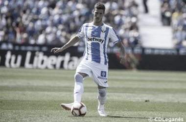 Rubén Pérez durante un partido con el CD Leganés | Foto: CD Leganés