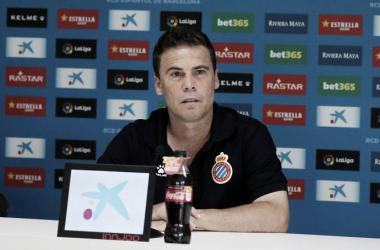 Imagen de archivo. Rubi en sala de prensa | Foto: RCD Espanyol