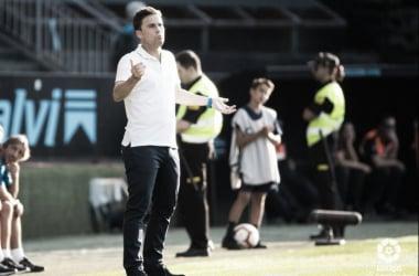 Rubi durante el partido ante el Celta. Foto: Web oficial RCD Espanyol.