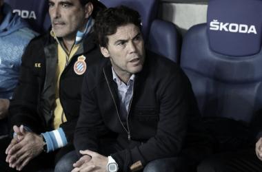 Rubi durante el encuentro ante el Getafe. Foto. Web RCD Espanyol.