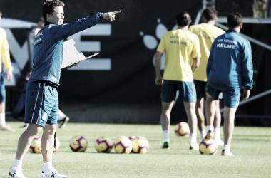 Rubi durante el entrenamiento del equipo. Foto: Web RCD Espanyol.