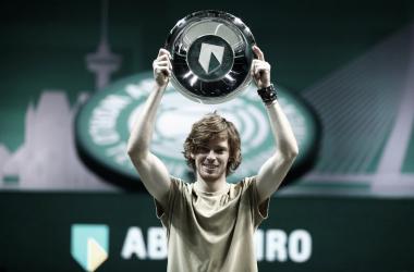 Rublev sumó su 20ª victoria consecutiva en los ATP 500. Foto: ATP