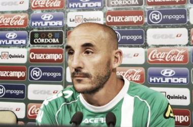 Rueda de prensa de Ferrer antes del partido ante la UD Almería (Foto: www.cordobacf.com)