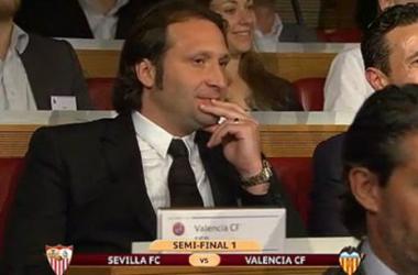 Rufete, durante el sorteo. (Foto: Valencia CF).