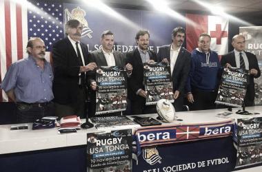 Presentación del partido en Anoeta. Foto: realsociedad.com