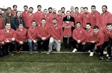 La selección española de rugby visita Valdebebas