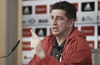 Rui Vitória mostra-se confiante para o jogo deste domingo. // Fonte: www.slbenfica.pt