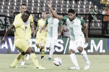 Luis Carlos Ruiz abrió el marcador. | Foto: Atlético Nacional