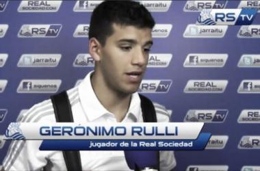 Rulli, ayer en zona mixta. Imagen: Real Sociedad TV