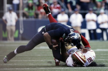 Seattle Seahawks quarterback Russell Wilson has MCL sprain