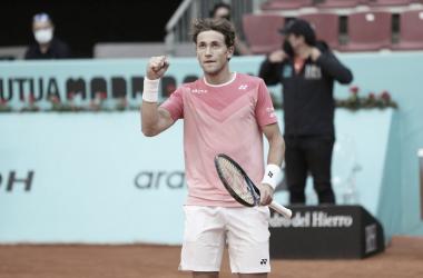 Casper Ruud venceu Alexander Bublik no Masters 1000 de Madrid 2021 (ATP / Divulgação)
