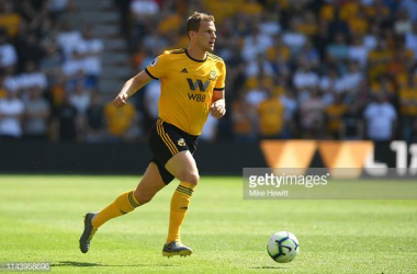 Ryan Bennett in action for Wolves. Image courtesy of Mike Hewitt on Getty images.