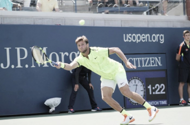 Ryan Harrison plays a forehand during U.S. Open qualifying/Photo: Brian Coleman/Long Island Tennis Magazine
