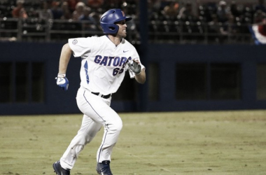 Larson's 11th-inning single won the game for Florida/Photo: Tim Casey/Florida Athletics