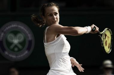 Rybarikova, durante un partido de Wimbledon. Foto: Zimbio