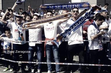 En las últimas semanas el equipo siente el calor de la afición.Foto : Real Zaragoza