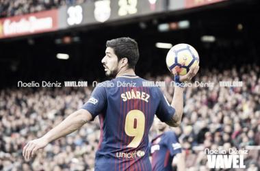 Luis Suárez en el Camp Nou. Foto: Noelia Déniz, VAVEL