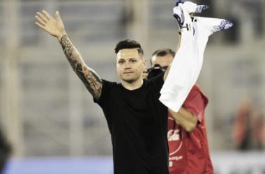 Zárate fue recibido por una multitud en su regreso al país | Foto: Marcelo Carroll