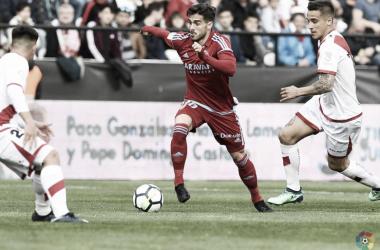 El Real Zaragoza cambió de esquema en Vallecas
