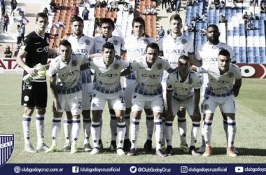 El once frente a Vélez. Foto: Club Godoy Cruz