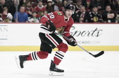 Saad está en serios problemas en Chicago. www. NHL.com