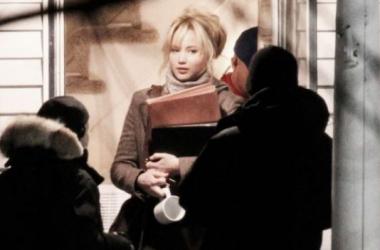 Imagen del rodaje de 'Joy', con Jennifer Lawrence. Foto (sin efecto): justjared