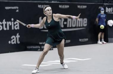 Sabalenka aplica 'pneu' em Voegele e vai às quartas no WTA de Linz