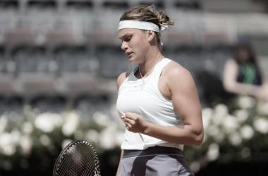 Sabalenka supera Puig e está na semifinal em Strasbourg