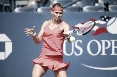 Safarova en su partido frente a Tsurenko   Foto: US Open