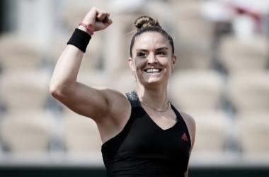 Maria Sakkari venceu Iga Swiatek em Roland Garros 2021 (WTA / Divulgação)