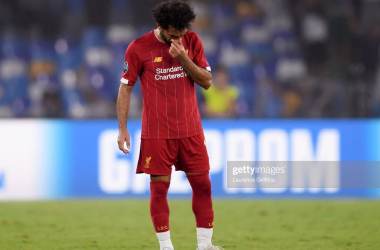Mohamed Salah could not find a way past the Napoli defence of Kalidou Koulibaly and co. (Getty Images)