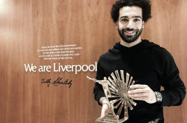 Salah foi o grande nome do Liverpool na última temporada (Reprodução / Twitter)