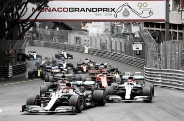 Salida del GP de Monaco 2019. Fuente: Twitter @F1)