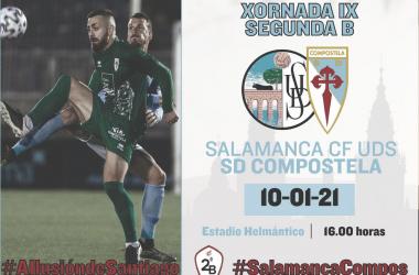Salamanca CF - Compostela. Foto: Compostela