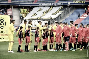 El Caen vence al Nantes en un partido frenético
