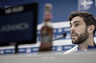 Salva Ruiz en rueda de prensa | Fuente: RC Deportivo