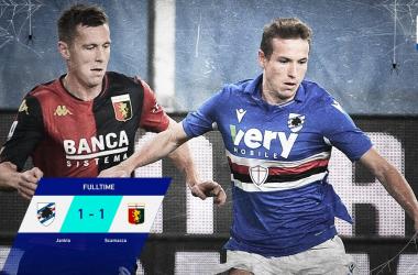 Serie A - Scamacca risponde a Jankto: il Derby della Lanterna finisce 1-1