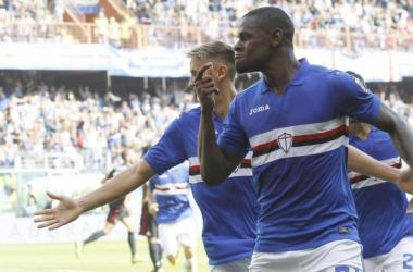Duvàn Zapata (26), ex della partita - Foto Sampdoria Twitter