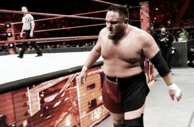 Samoa Joe tras un combate en RAW | Fuente: WWE.com