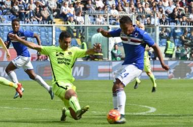 Risultato Hellas Verona - Sampdoria, Serie A 2015-16 (0-3): Soriano, Cassano, Lazaros