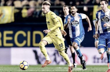Castillejo durante un partido esta temporada | Foto: Villarrealcf.es