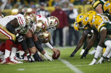 Green Bay takes on the NFC's best in San Francisco on Sunday Night. (Photo: Michael Zagaris/San Francisco 49ers/ Getty Images)