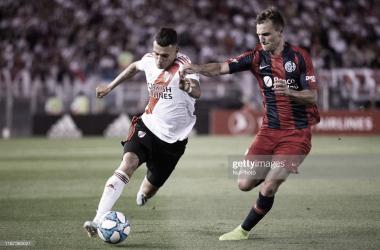 Matías Suarez vs Bruno Pittón en lo que fue el último partido entre los dos equipos.