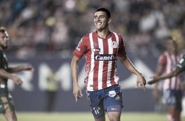 Valdez celebrando su segunda anotación // Foto: Atlético de San Luis