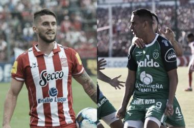 Bieler y Miracco, las llaves del gol del Santo y el Verde respectivamente (Fotomontaje: Adrián Gallardo)