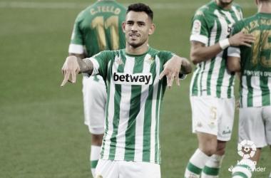 El paraguayo celebra su gol ante el FC Barcelona. Fuente: La Liga.