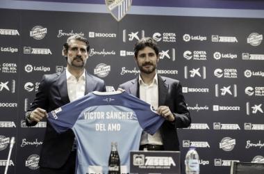 Víctor Sánchez del Amo continúa en el banquillo del Málaga CF