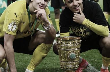 RB Leipzig 1 a 4 Borussia Dortmund (BVB / Divulgação)